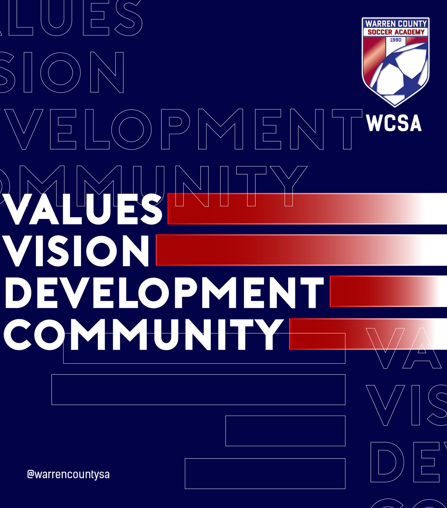 WCSA Values, Vision, Development, Community